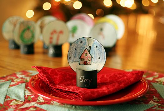 Snow Globe Place Cards