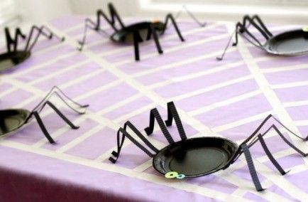 DIY Party Idea: Spider Plates!
