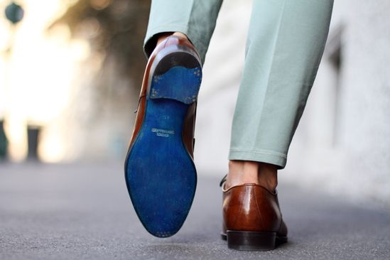 Sutor Mantellassi's Blue Soled Shoes!