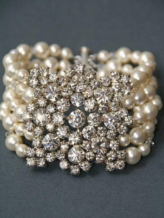 Pearls and diamonds.