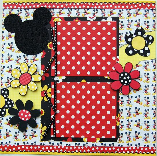 disney premade single 12x12 scrapbook page by by urbansavanna, $9.00