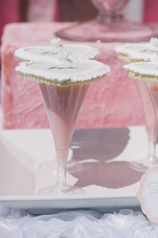 sugar cookies with pink milk See more bachelorette party ideas here www.weddingchicks...
