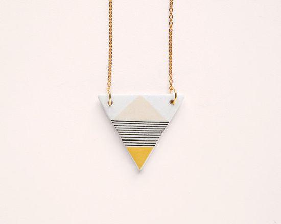 Geometric necklace.
