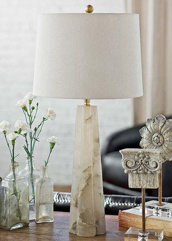 Regina Andrew Lighting Small Alabaster Quatrefoil Table Lamp
