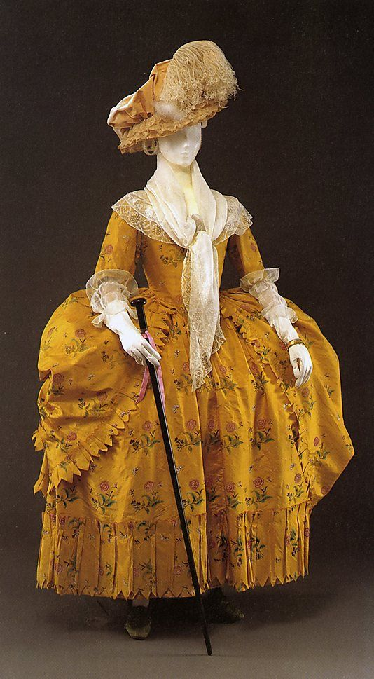 silk dress (Robe à la Polonaise)  c. 1780-85 American