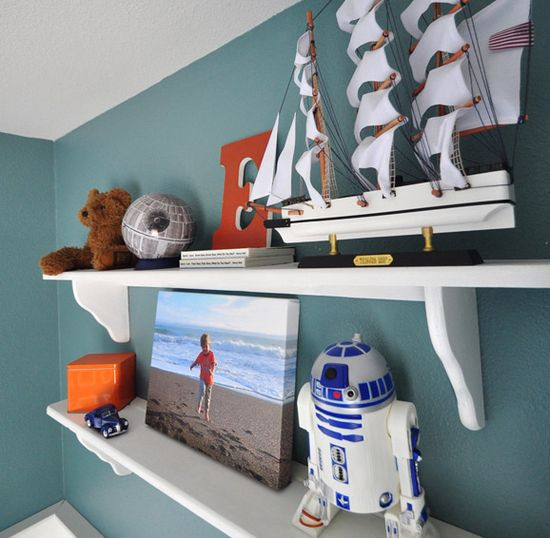 Love this wall color for a boys room