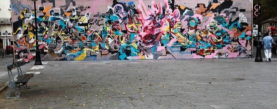 French Kiss Club by kidswiz, via Flickr #graffiti