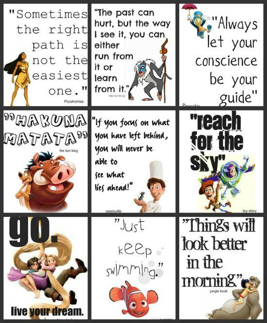 Disney printouts for children's rooms or office desks