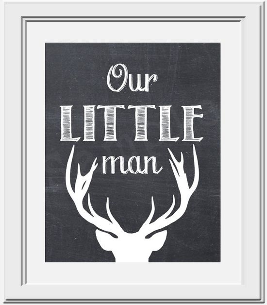 Our Little Man - Deer Silhouette - PRINTABLE Nursery Art on Etsy, $5.00