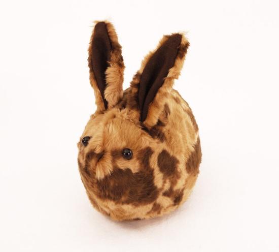 Wilber Calico Bunny by Zygopsyche, via Etsy.