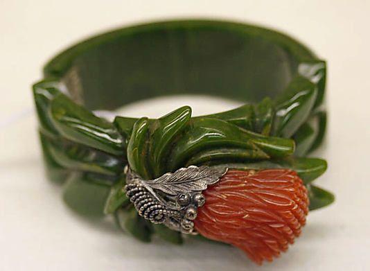 Art Deco 1930s  Bakelite and metal bracelet