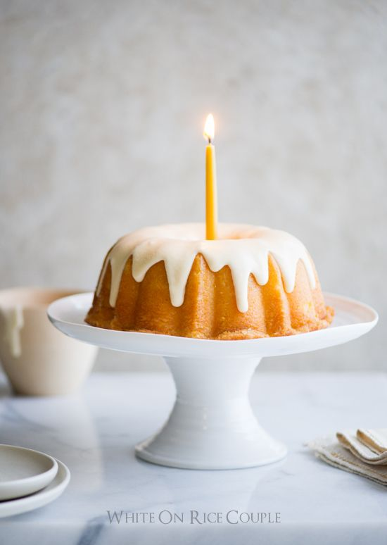lemon bundt cake with vanilla icing