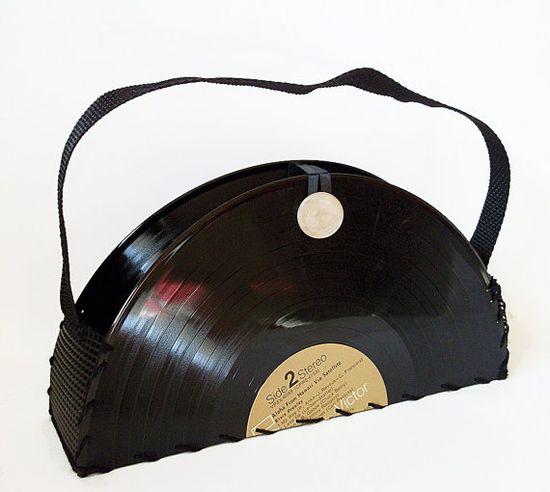 Elvis record handbag.