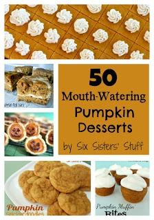50 Mouth-Watering Pumpkin Desserts by Sixsistersstuff.com #recipe #pumpkin