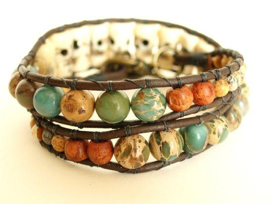 Boho Stone Wrap Bracelet