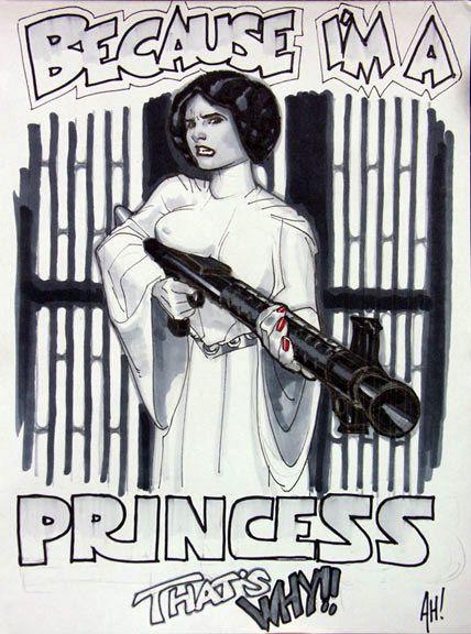 Princess Leia by Adam Hughes