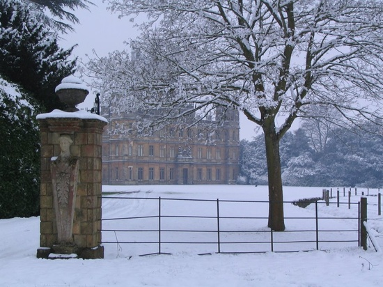 highclere castle in the snow