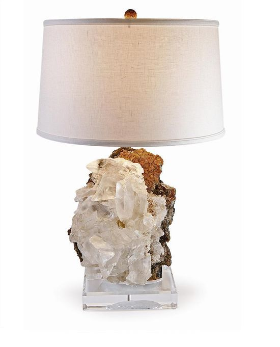 Moroccan Crystal Formation Lamp Courtesy of InStyle-Decor.com Beverly Hills Inspiring & supporting Hollywood interior design professionals and fans, sharing beautiful luxe home decor inspirations, trending 1st in Hollywood Repin, Share & Enjoy