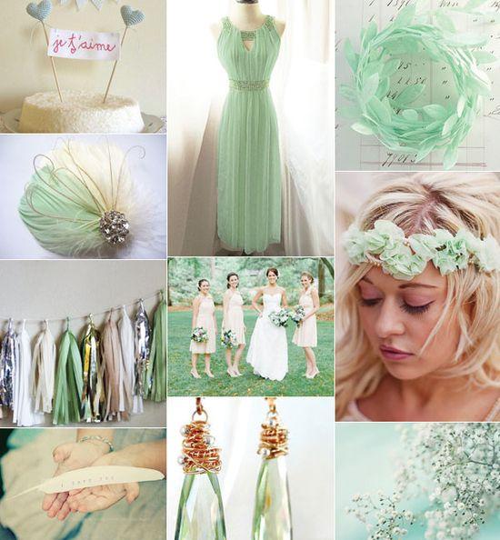 wedding trends 2013, mint wedding