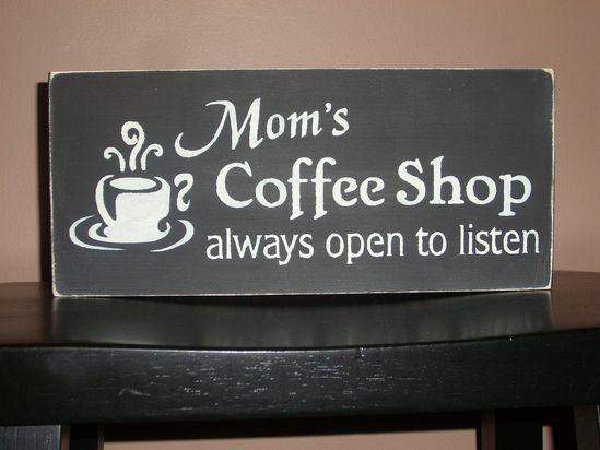 Cute coffee sign