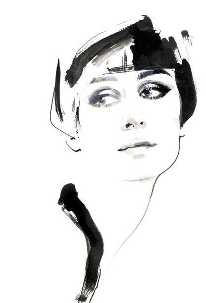 Fashion Illustration by David Downton
