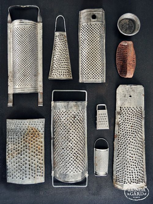 graters... one of my favorite old kitchen utensils