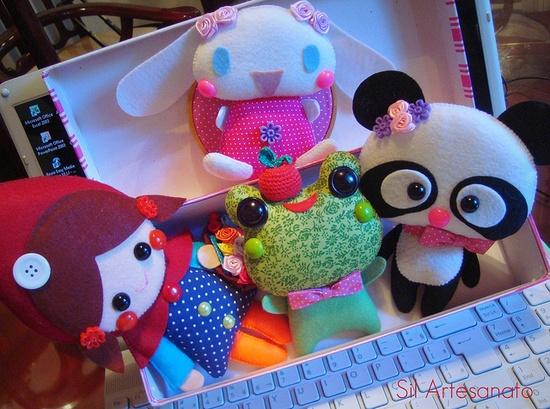 Stuffed felt lovelies!