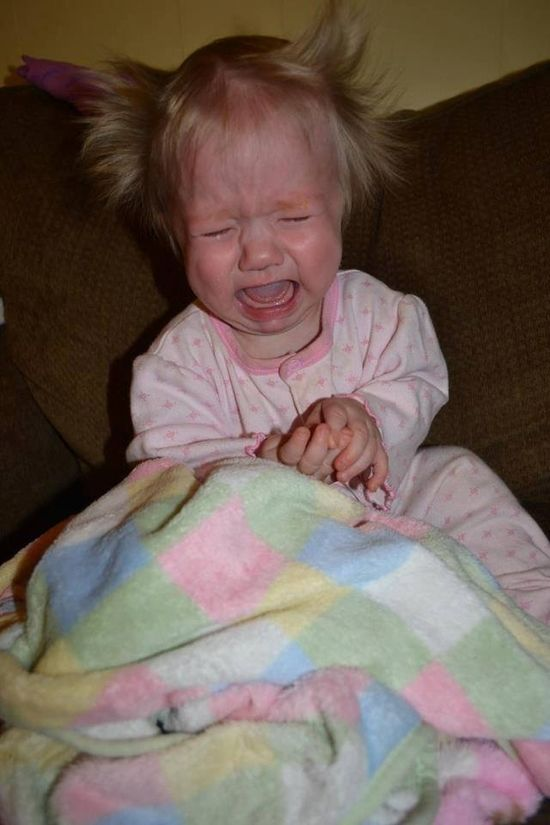 Babies Having A Bad Hair Day