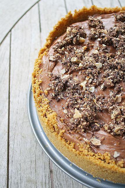 No Bake Nutella Cheesecake by Delishhh, via Flickr