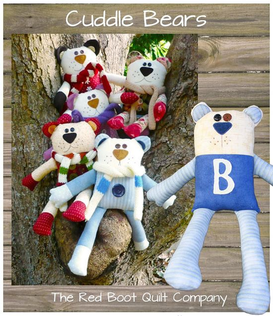 PDF - Cuddle Bears Softie Pattern via Etsy