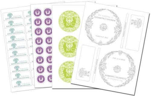 Free wedding printables.