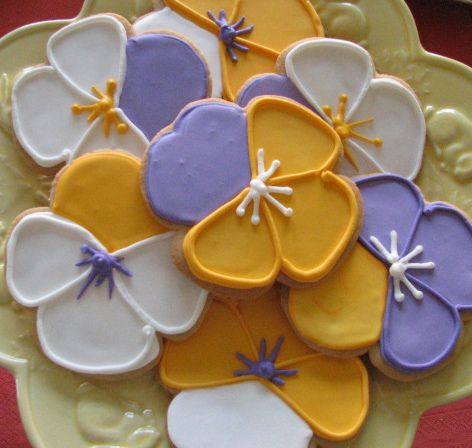 Plate of Pansy Cookies