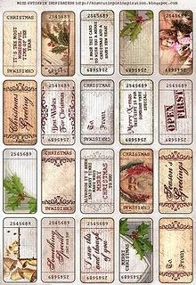 Gorgeous printable xmas Gift tags