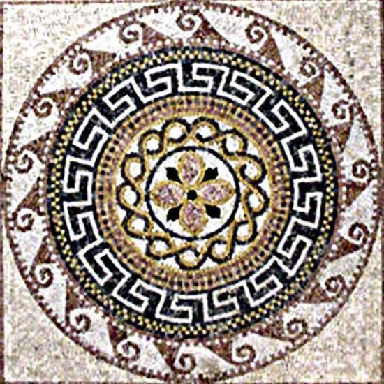 Handmade Marble Geometric Mosaic
