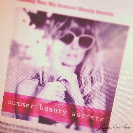 Lauren Conrad's summer beauty essentials