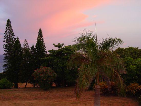 Casting a pink light at sunset. Elbow Beach Resort, Bermuda