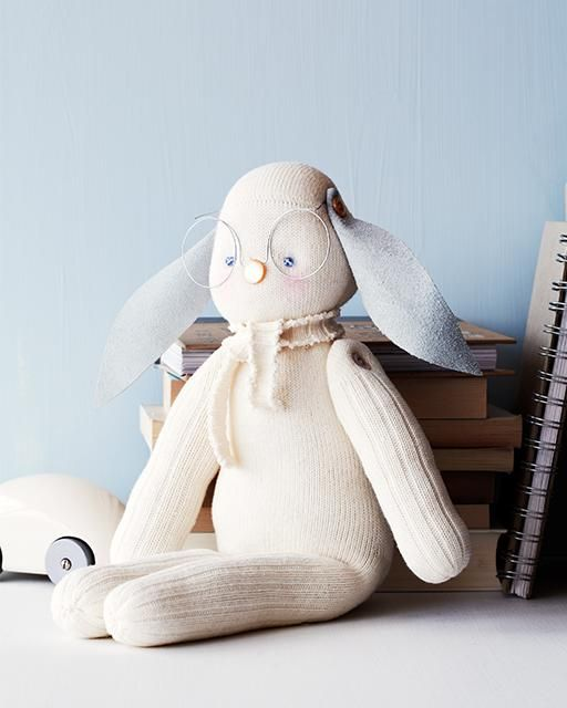 Sweet Paul 2013 Holiday Countdown - DAY 2 - DIY Sock Bunny - stuffed animal made from a pair of socks!