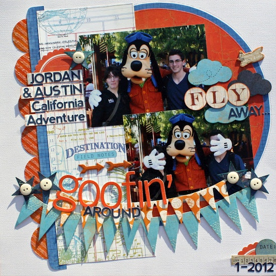 #papercraft #scrapbook #layout #disney