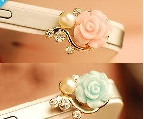 flower dustproof plug for iphone 4 iphone 4s and iphone 5 iphone dust plug on Etsy, $4.99