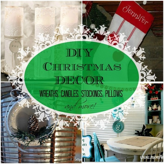 #diy #Christmas #home #decor,#wreaths,#candles,#Stockings,#pillows and more awesome #Holiday goodness