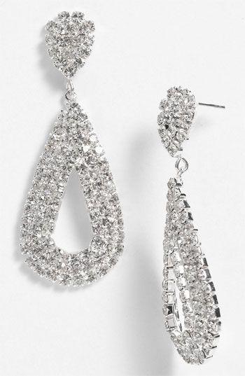 Shine: Rosa Crystal Open Teardrop Earrings #Nordstrom #BP #Prom