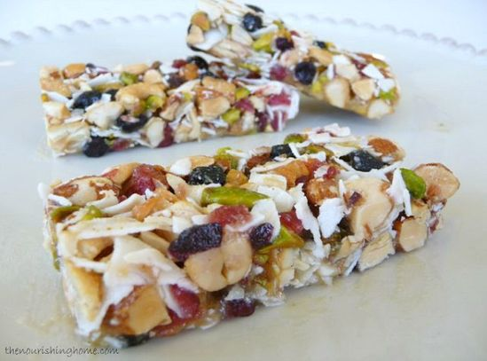 Fruit & Nut Grain-Free Bars #TheNourishingHome