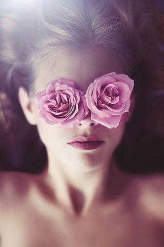 through rose coloured...