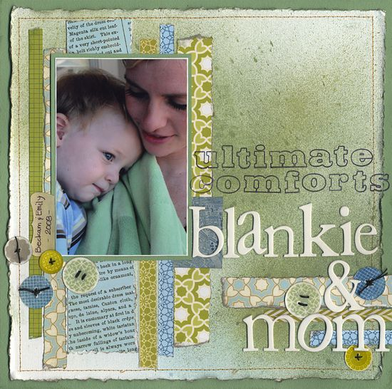 The Ultimate Comforts - A Bar/Stripped Layout - Scrapbook.com - #scrapbooking #layouts #bazzillbasics #rangerink #studiocalico