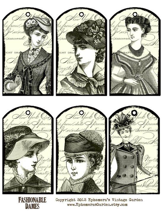 Vintage Ladies Hang Tags
