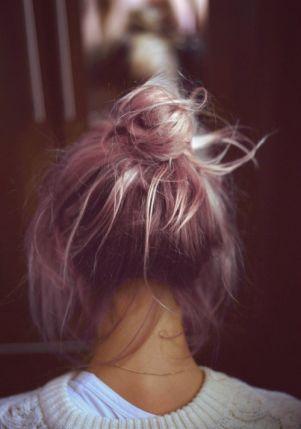 pink bun