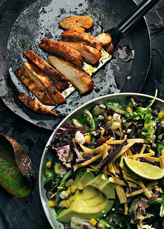 Grilled Chicken Tenderloin With Avocado Salad
