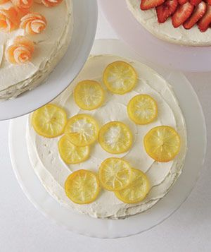 Easy Cake Decorating Ideas - candied lemons