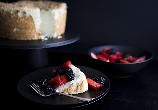 Angel Food Cake - Chez Us.  A birthday celebration with heaven's cake.  #recipe #cake