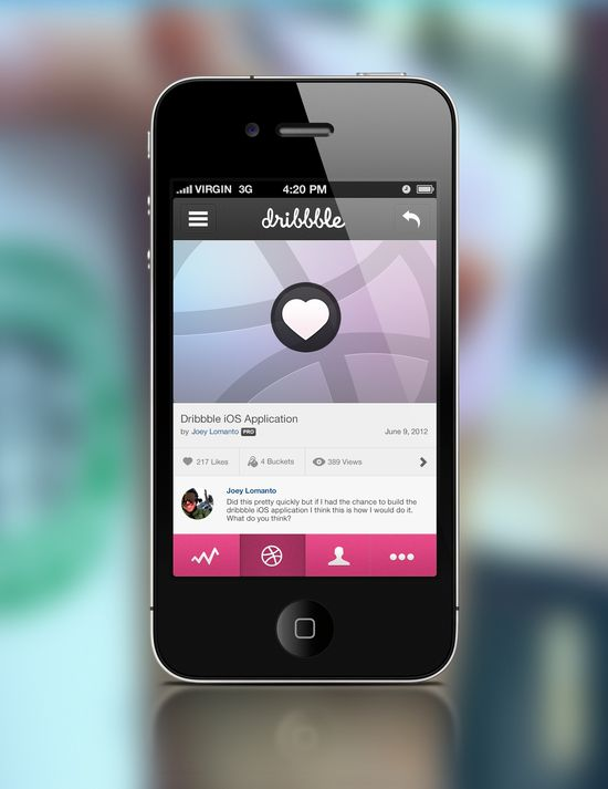 Dribbble Tap To Like Big